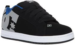 DC Men's Court Graffik, Black/Armor, 8 D US