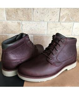 TEVA DURBAN MAHOGANY LEATHER LACE-UP ANKLE BOOTS SHOES SIZE