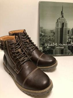 Bruno Marc New York Engle-05 Motorcycle Ankle Boots Lace Up