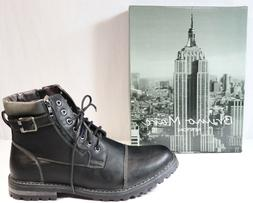 Bruno Marc New York Engle 05 Motorcycle Ankle Boots Lace Up