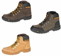 Caterpillar Men's Outline Brown Honey Gray Work Boot Steel/