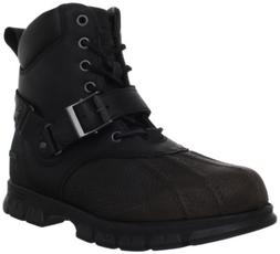 Polo Ralph Lauren Men's Feltwell Hiking Boot, Grey/Black, 8