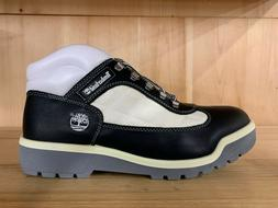 TIMBERLAND FIELD BOOT BLACK SMOOTH WHITE BOOTS MENS  SZ 10-1