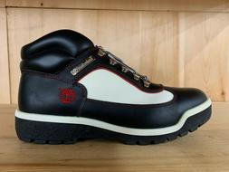 TIMBERLAND FIELD BOOT BLACK WHITE RED BOOTS MENS  SZ 10-11
