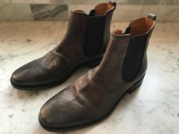 John Varvatos Fleetwood Sharpei Men's Chelsea Boots, Charcoa
