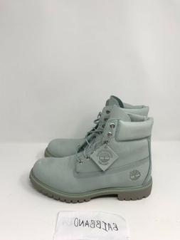 Timberland genuine leather Boots, light grey color. Men size