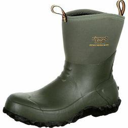 Georgia Men's 10in Waterproof Mid Rubber Boots- Green Size 1