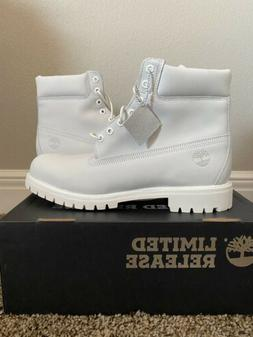Ghost White Timberland Boots Size 13