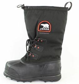 Sorel Men's Glacier Extreme Snow Boot,Black/Red Quartz,9 M U