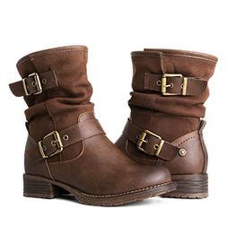 Globalwin Women's 17YY12 Brwon Fashion Boots 8M