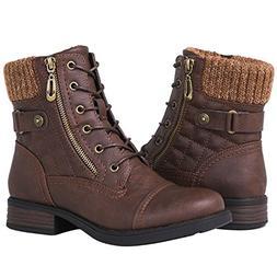 Globalwin Women's 1821 Brown Fashion Boots 8M
