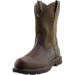 Ariat Groundbreaker Pull-On Steel Toe  - Brown - Mens