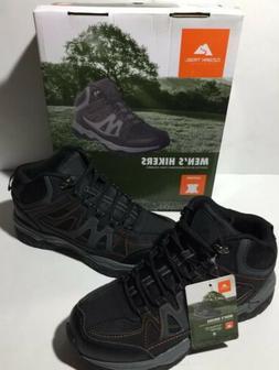 Ozark Trail Hiking Boots Size 8 Mens Black Grey Genuine Leat