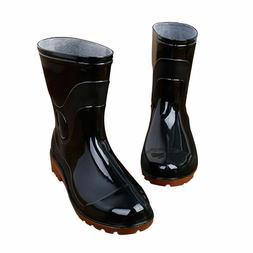 HOT men Rain Boots Anti-Slip Waterproof Heeled Flexible Sole