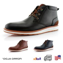 Men's Memory Foam Casual Mid-Top Leather Sneakers Fashion La