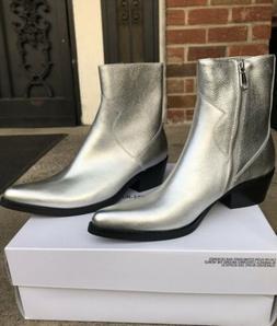 Calvin Klein Jeans Alden Boots Men ~ Silver Tumbled Leather