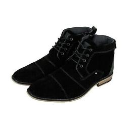 Steve Madden Johnnie Mens Black Suede Lace Up Casual Dress B