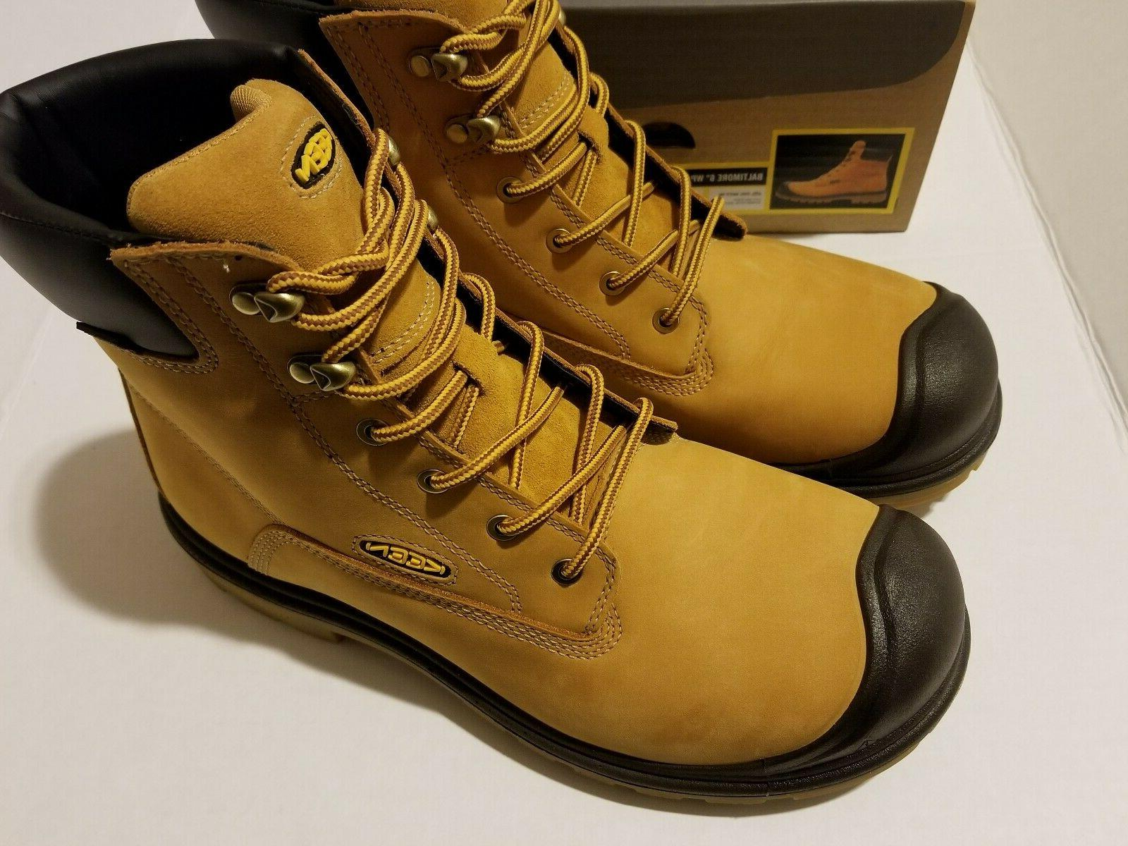 "Keen 6"" WP Wheat Boots SZ"