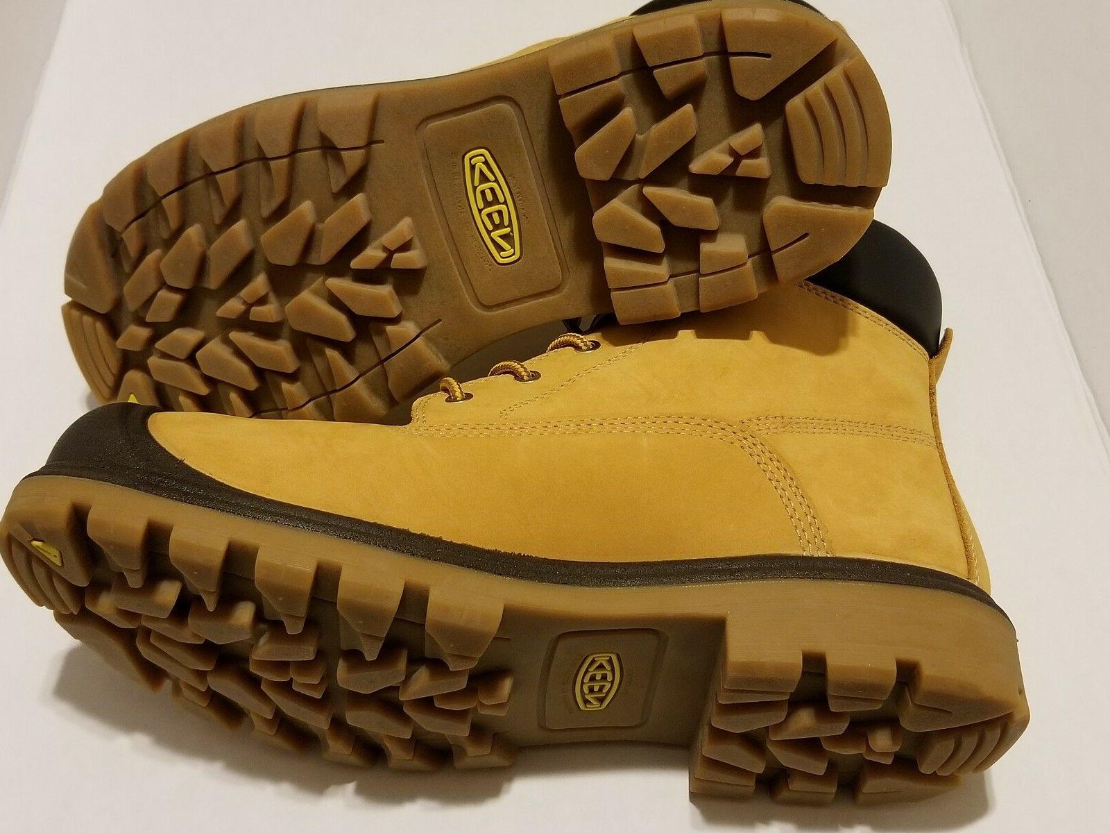 """Keen 1018664D 6"""" WP Wheat Boots MEN'S SZ 11"""