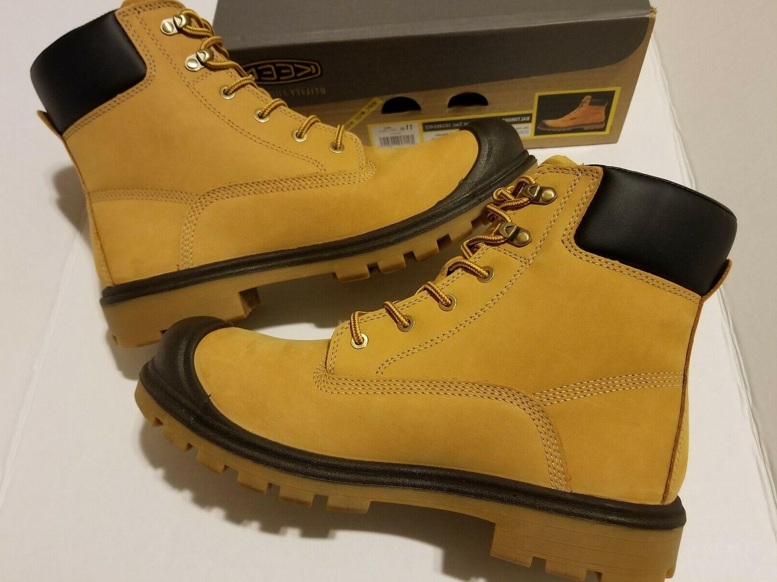 "6"" WP Wheat Work Boots MEN'S SZ 11 EE"