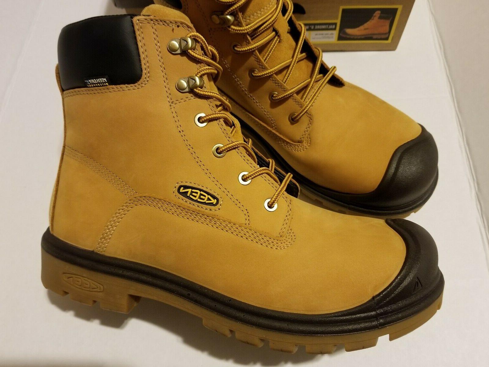"""Keen 6"""" Steel Toe Wheat Work Boots MEN'S SZ"""