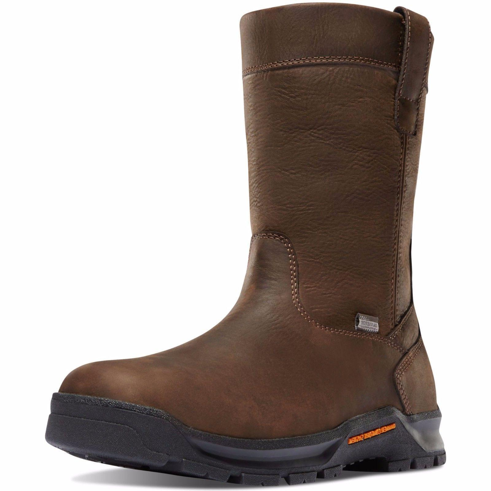 "Danner 12453 Men's Crafter Wellington 11"" Brown Soft Toe Wor"