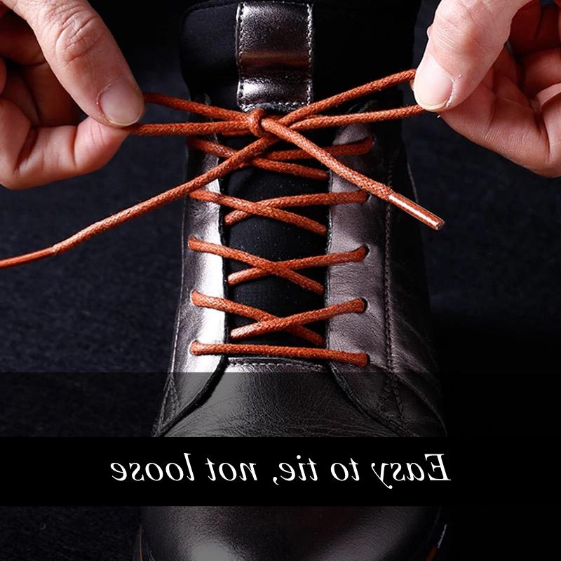 1Pair Waxed Cotton Shoe lace Waterproof ShoeLaces <font><b>Men</b></font> Martin Shoestring