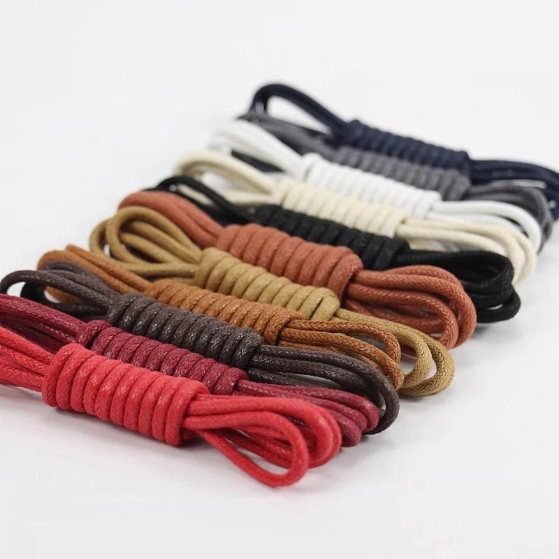 1Pair Waxed Round Shoe laces Shoes lace ShoeLaces Martin <font><b>Boots</b></font> Shoelace Shoestring