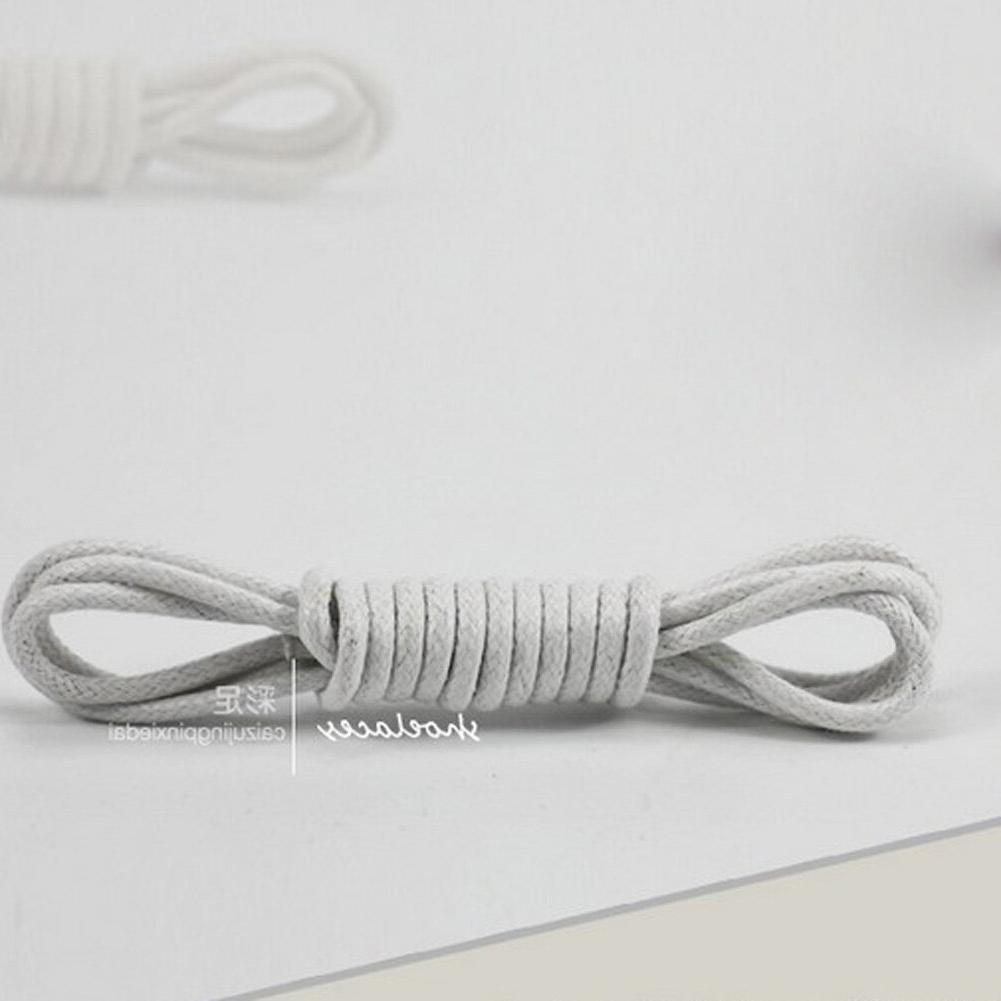1Pair Waxed Round Elastic Shoe laces <font><b>Men</b></font> <font><b>Boots</b></font> Accessories Round Strings