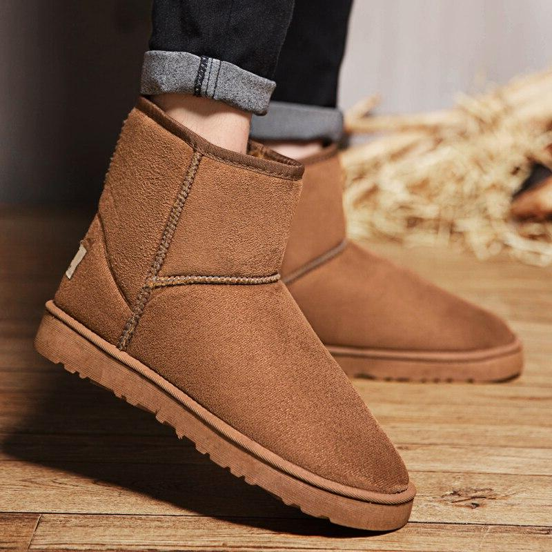 2019 <font><b>Men</b></font> Women Casual Snow Warm Plush <font><b>Boot</b></font> <font><b>Work</b></font> 35-45