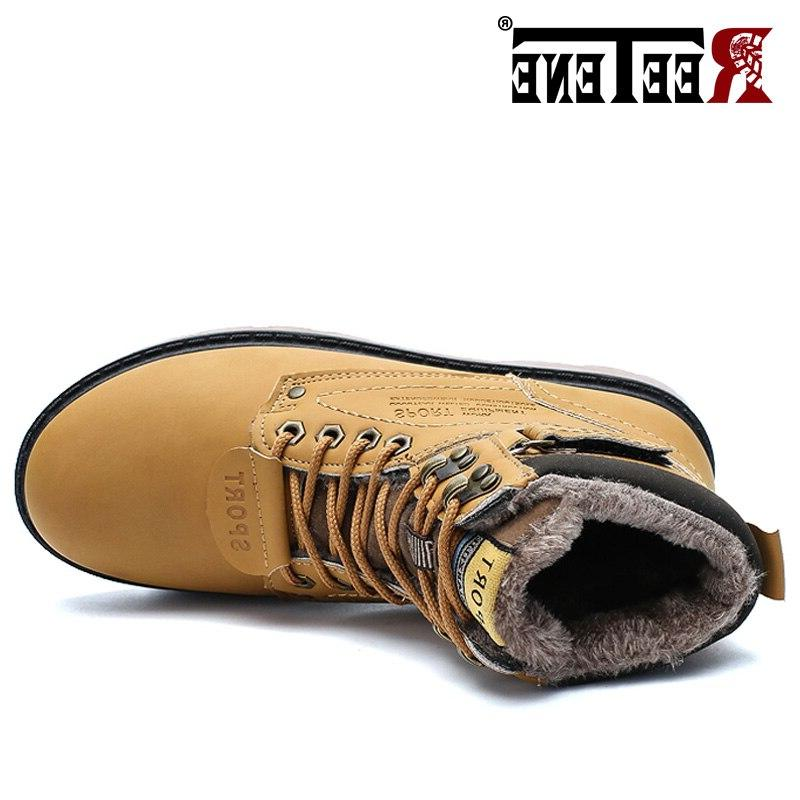 REETENE Snow <font><b>Boots</b></font> Fur <font><b>Boots</b></font> Shoes High Quality Outdoor <font><b>Work</b></font> Shoes Size