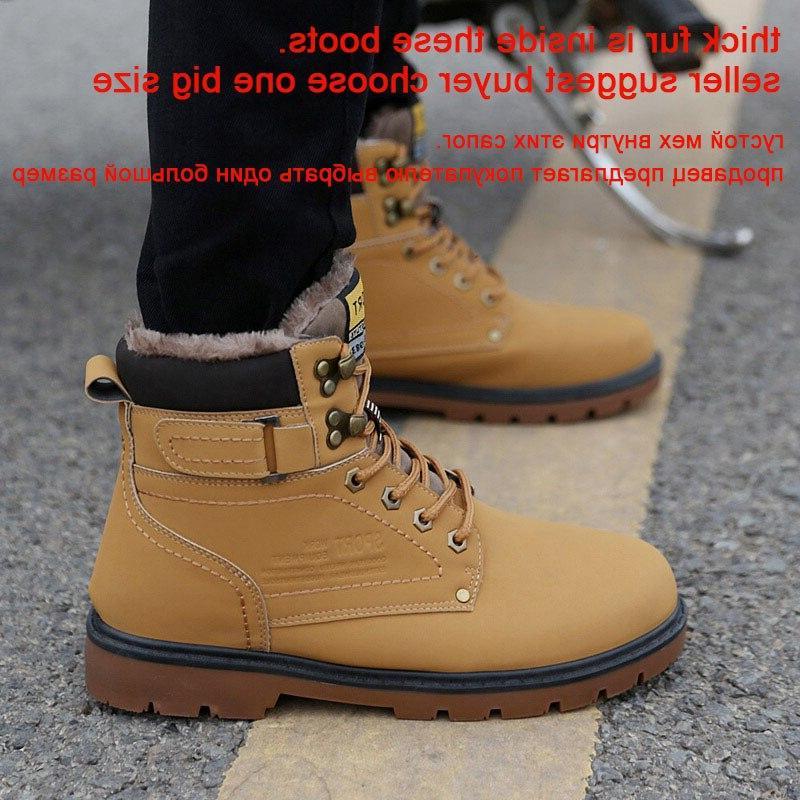 REETENE Snow <font><b>Boots</b></font> Ankle <font><b>Boots</b></font> <font><b>Men</b></font> Casual High Outdoor <font><b>Work</b></font> Size