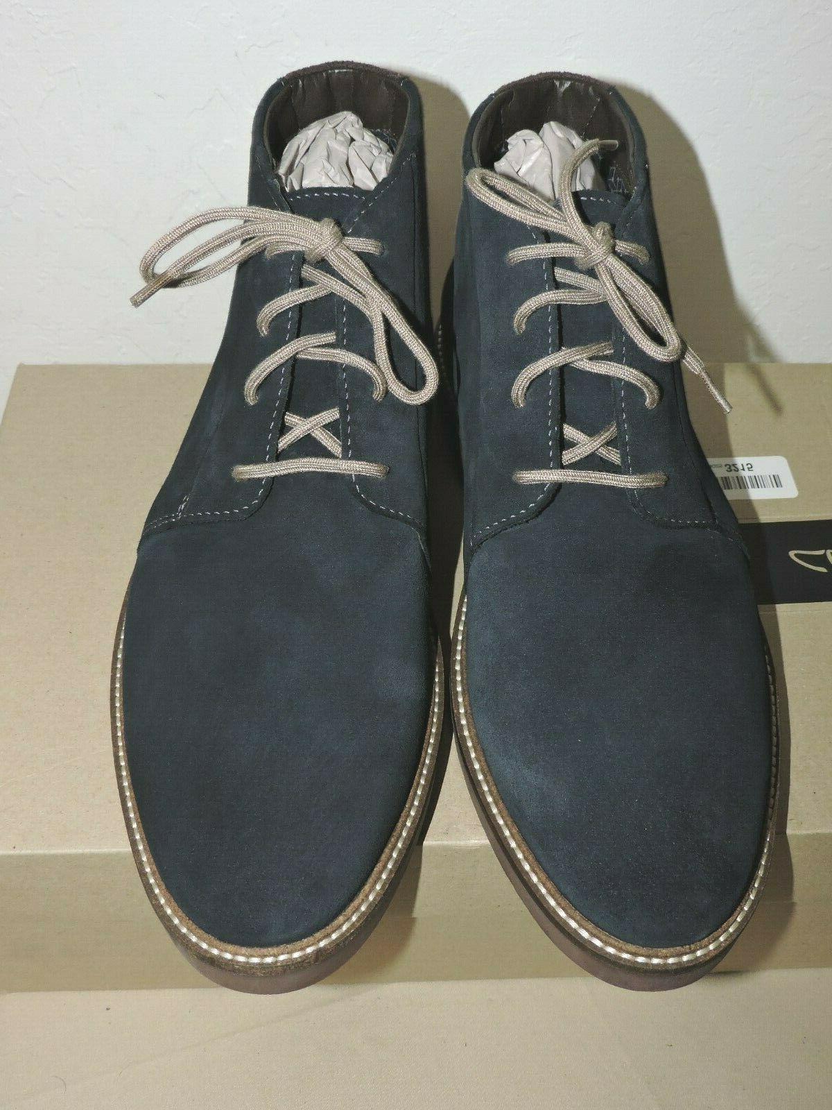Clarks Grandin Navy Blue Boots 11.5
