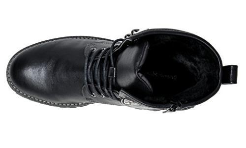 Bruno Marc Black Motorcycle Oxford Boots Size M US