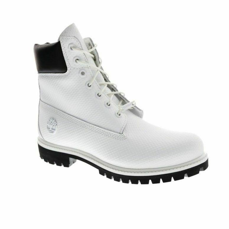 "TIMBERLAND A1GUY MEN'S ICON 6"" WHITE PREMIUM WATERPROOF HELC"