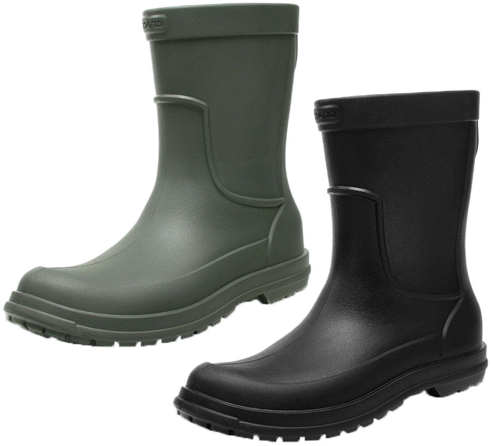 Crocs All Cast Rain Boots Mens Wellingtons Soft Cushioned We