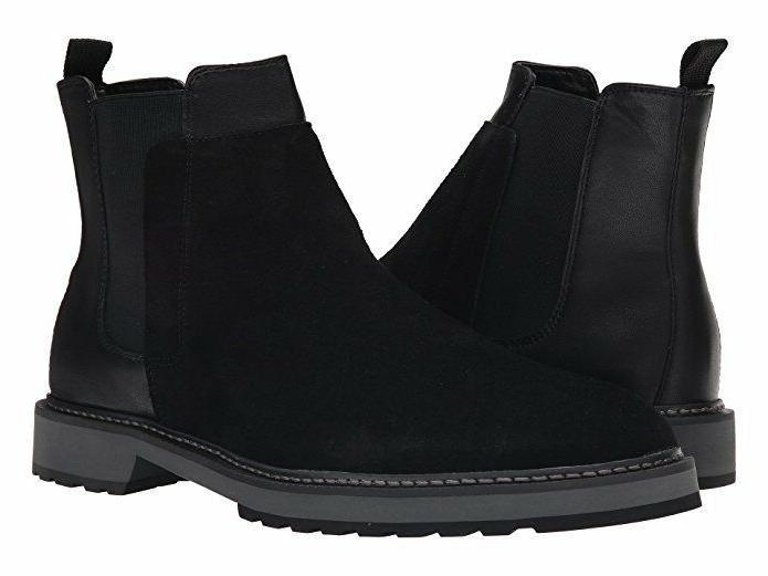 Calvin Klein Avis Black Suede Leather Chelsea Boots Mens 9.5