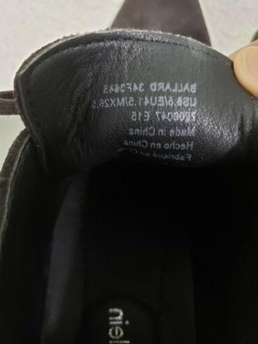 Calvin Klein Ballard Mens 8.5 Brown Suede Ankle