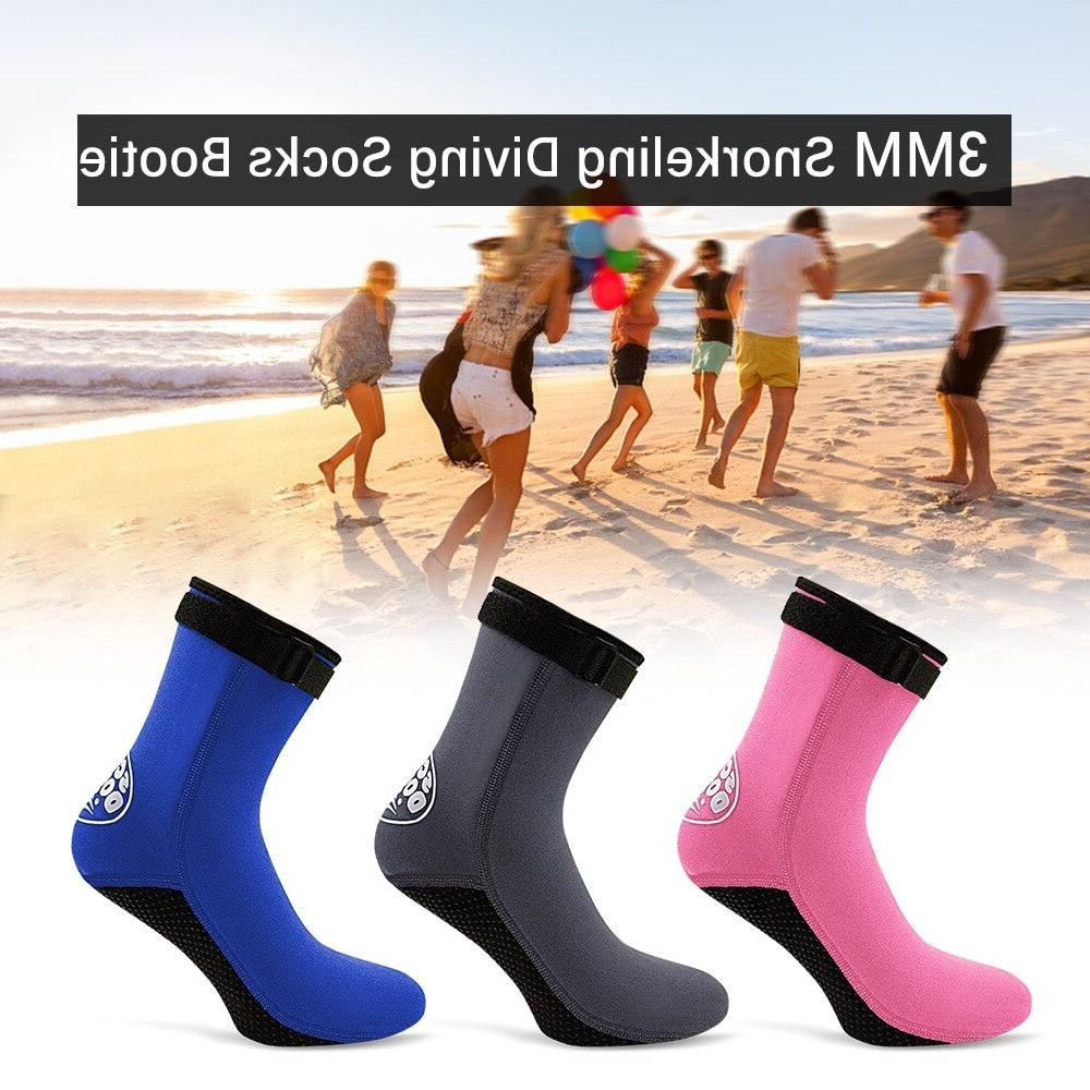Beach 3MM Neoprene Water Shoes Beach Snorkeling Diving Surfing <font><b>Boots</b></font> <font><b>Men</b></font> Women