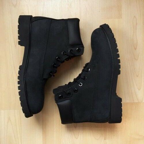 Timberland Black Leather Nubuck Premium Boots NIB Men's