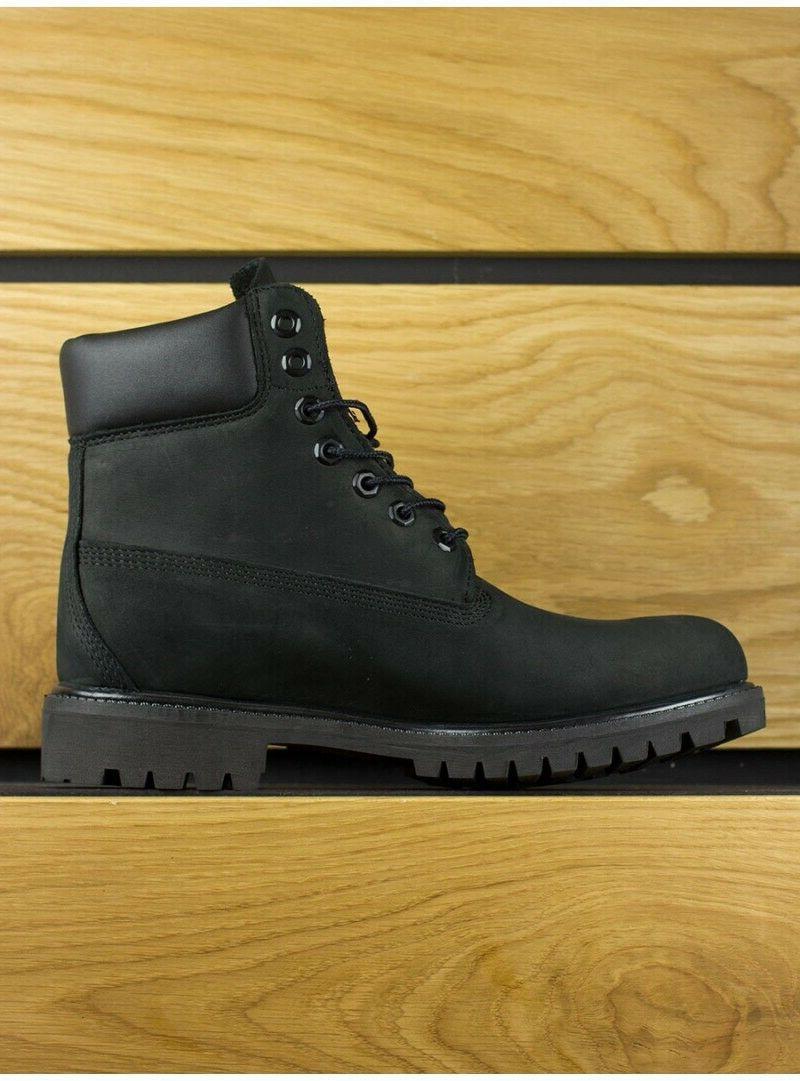 Timberland Black Leather Premium 6 Boots NIB Men's