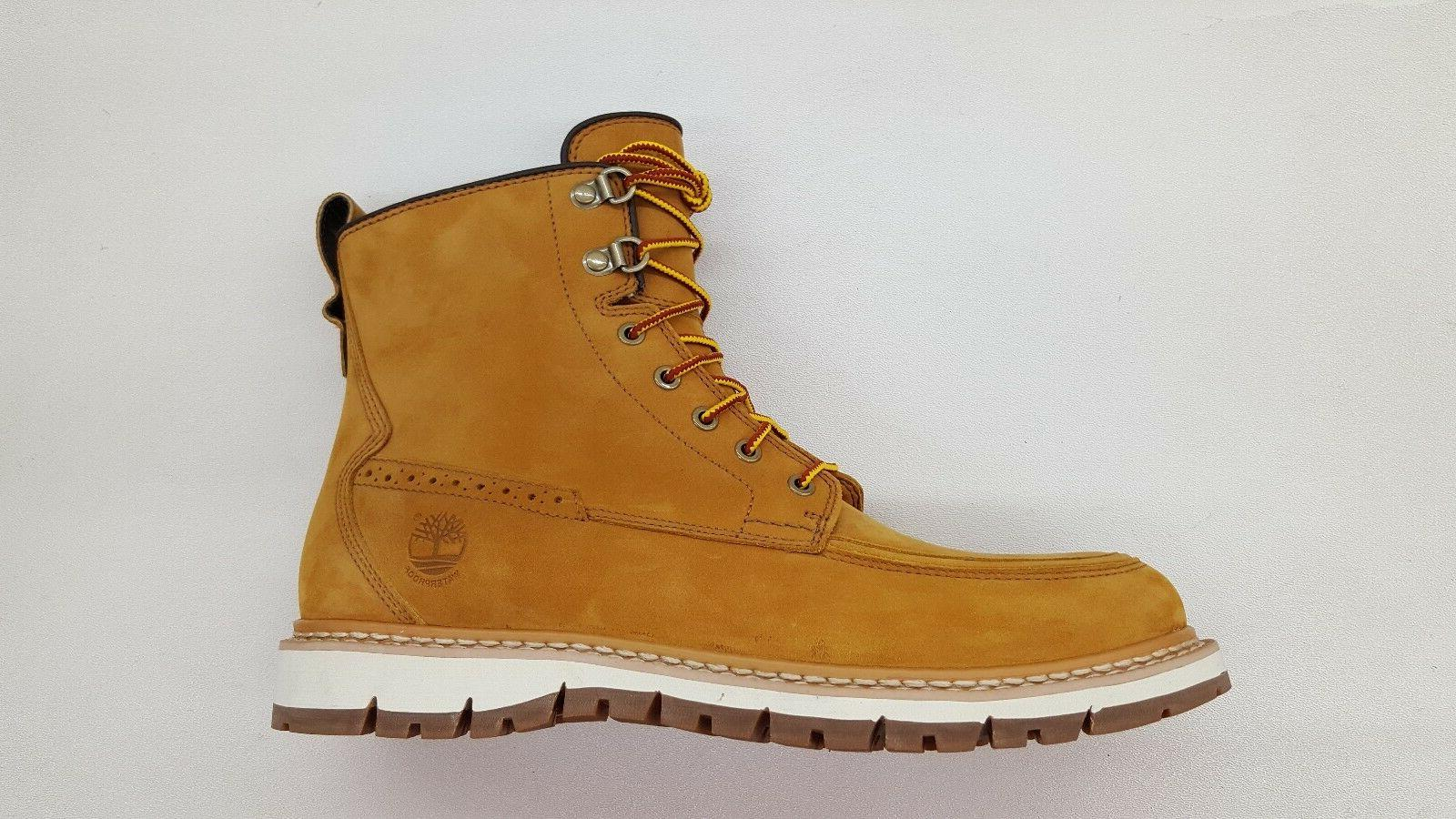 TIMBERLAND BRITTON HILL MOC TOE ALL WHEAT NUBUCK MENS WATERP