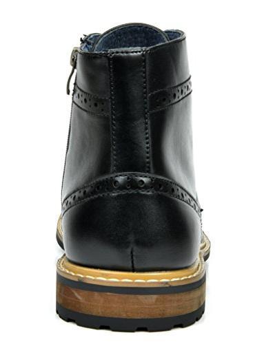 Bruno Bergen-03 Black Leather Dress Ankle Boots