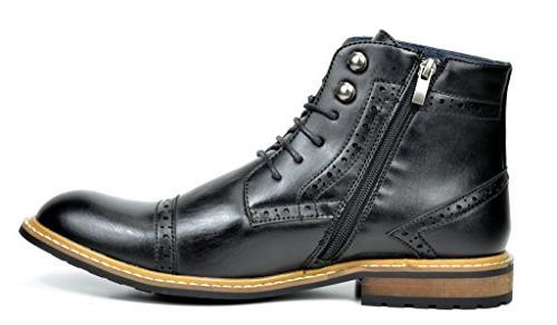 Bruno Marc Men's Black Dress Boots 6.5 M US