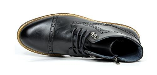 Bruno Bergen-03 Black Leather Oxfords Dress Boots 6.5 M US