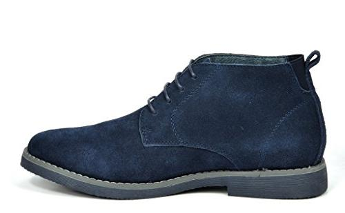 0cac0913c20 Bruno Marc Men's Chukka Navy Suede Leather Chukk