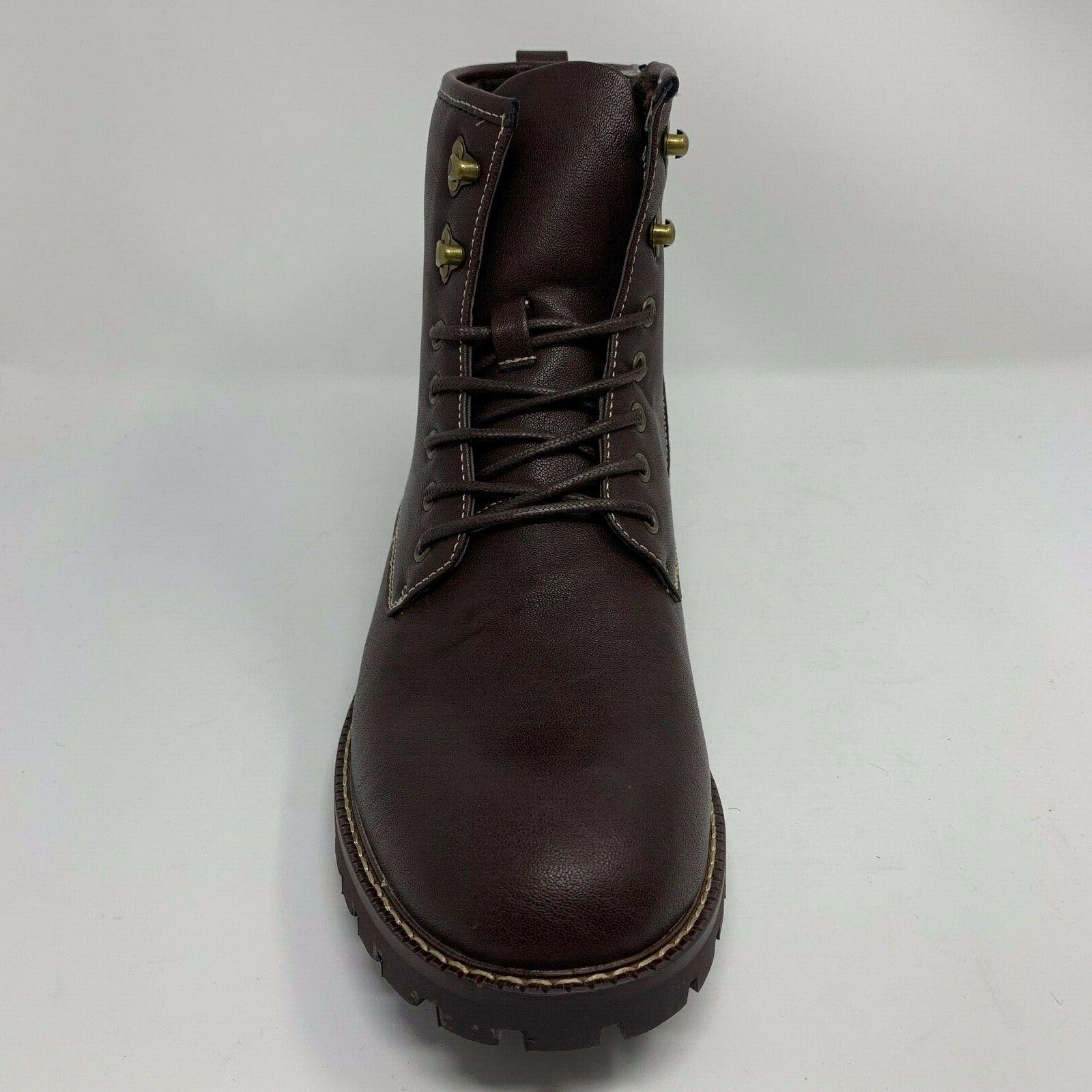 Bruno Men's Stone-01 Dress Motorcycle Winter Combat Ankle Boots