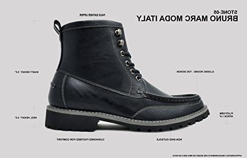 Bruno Dark Motorcycle Combat Dress Oxford Boots Size 14 M US