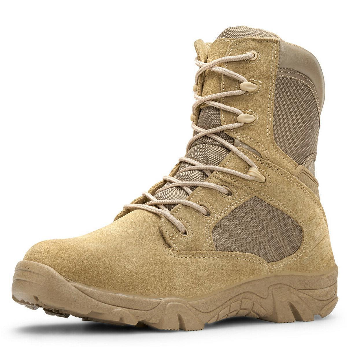 """Bufferzone® 8"""" Desert Tan Boots With Zipper"""