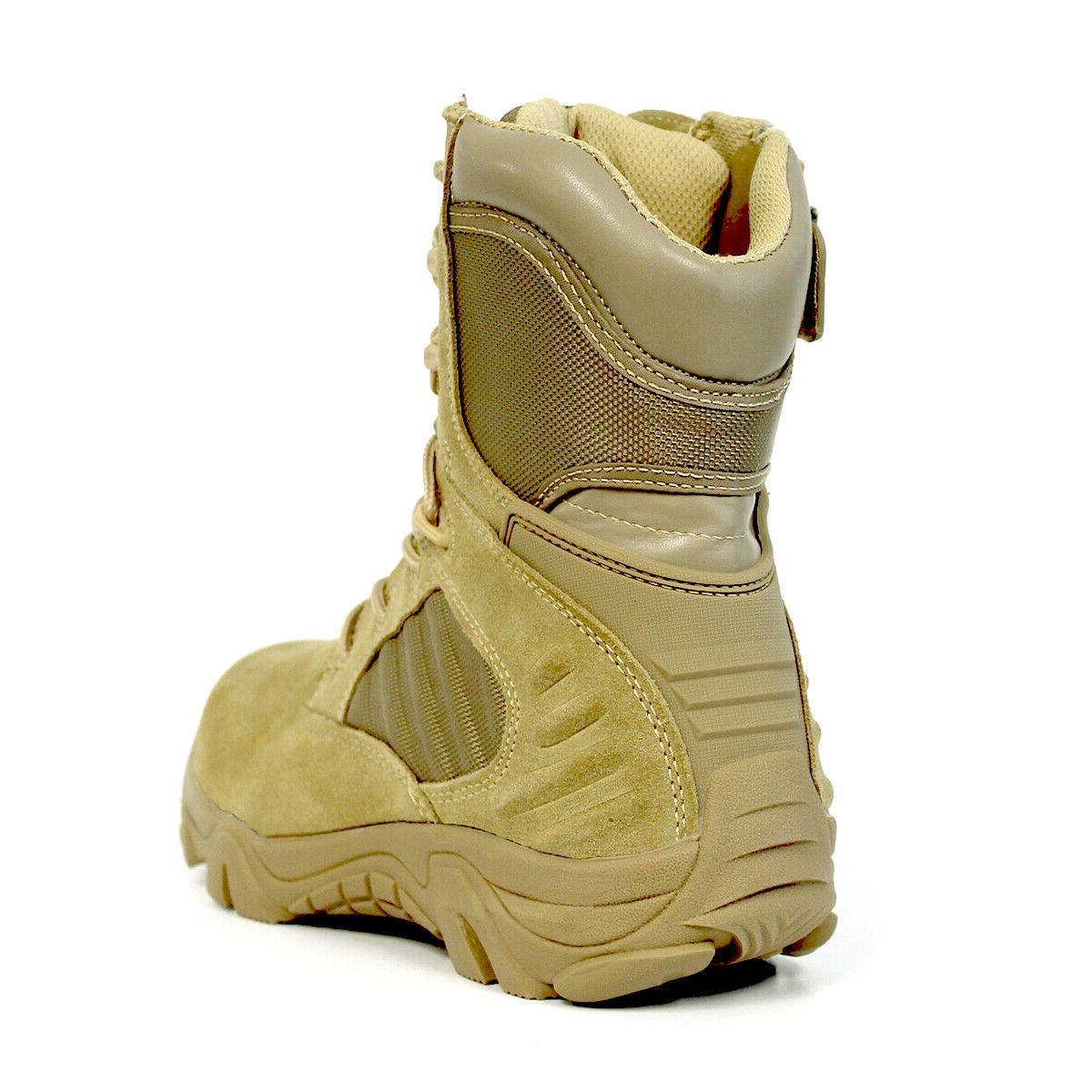 Bufferzone® Tan Military Combat Boots